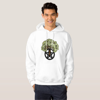 Heidnischer Pentagramm-Baum Hoodie