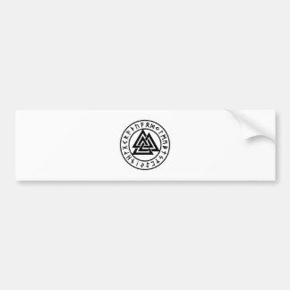 Heidnischer Symbole Odins Knoten Valknut Autoaufkleber