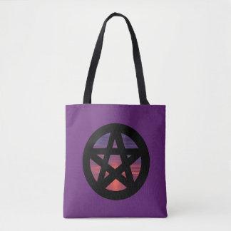 Heidnisches Sonnenaufgang-Pentagramm Tasche