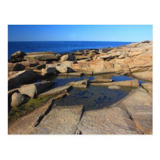 Heilbutt-Punkt-Gezeiten-Pool Rockport Kap Ann Postkarte