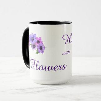 Heilen mit Blumenentwurf Tasse