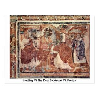 Heilen vom tauben durch Meister von Mustair Postkarte