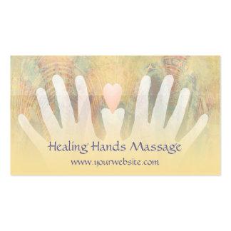 Heilende Handmassage-Visitenkarte