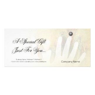 Heilende Handmassage Individuelle Werbe Karte
