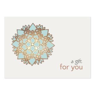 Heilende Kunst-Lotus-Geschenkgutschein Mini-Visitenkarten