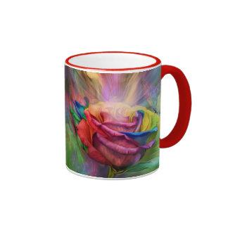 Heilende Rosen-Kunst-Tasse Ringer Tasse