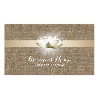Heilende Salon-Leinwand Massage-Therapie-glühende Visitenkarten
