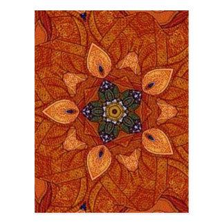 heilender Flammen-Blume Mandala Postkarte