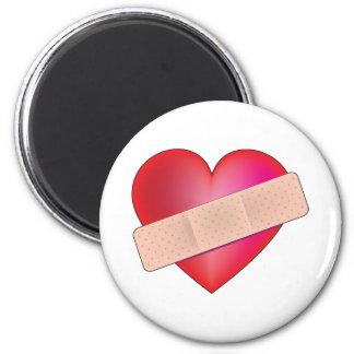 Heilendes Herz Runder Magnet 5,7 Cm