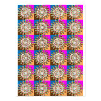 Heilendes Symbolgeschenk SONNENBLUME-Blume chakra Postkarte