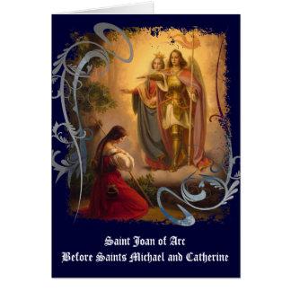 Heilig-Jeanne d'Arc Gruß-Karte (freier Raum) Karte