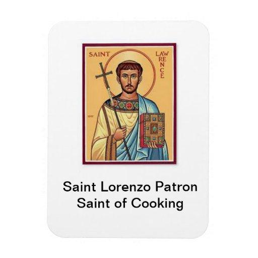 Heilig-Lorenzo-Schutzpatron des Kochens des Magnet