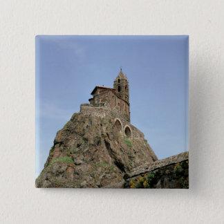 Heilig-Michel d'Aiguilhe (Foto) Quadratischer Button 5,1 Cm