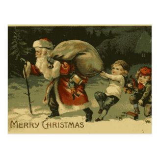 Heilig-Nick-und KinderVintage Weihnachtspostkarte Postkarte