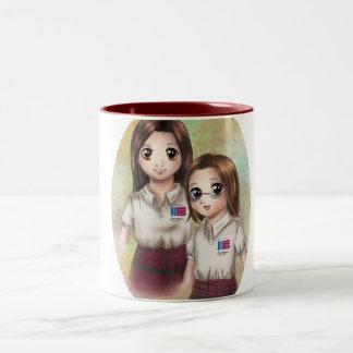 Heilig Taza Auf die Person stimmt Saturio Zweifarbige Tasse