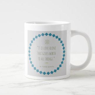 Heilig-Zitat-Kaffee-Tasse. St Teresa von Avila Jumbo-Tasse
