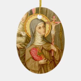 Heilige 2for1:  Zwei arme Clare-Heilige (SAU 027) Keramik Ornament