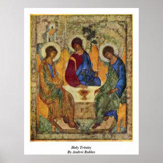 Heilige Dreifaltigkeit durch Andrei Rublev Poster