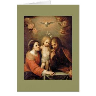 Heilige Familie mit Engeln durch Gutiérrez Grußkarte