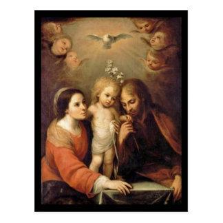 Heilige Familie mit Engeln durch Gutiérrez Postkarte