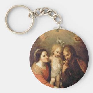 Heilige Familie mit Engeln durch Gutiérrez Schlüsselanhänger