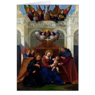 Heilige Familie mit Heiligem Nicholas von Karte