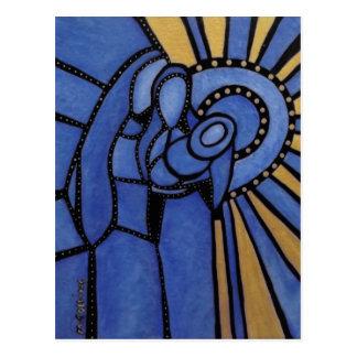Heilige Familiemoderner abstrakter Nativity Postkarte