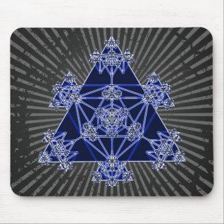 Heilige Geometrie: Blaue Dreiecke: Mousepad