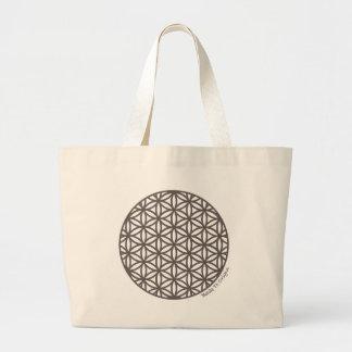 Heilige Geometrie-Blume des Lebens Jumbo Stoffbeutel