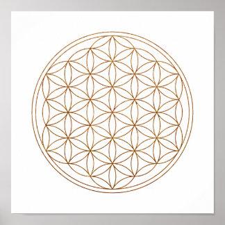 Heilige Geometrie-Blume des Lebens Poster