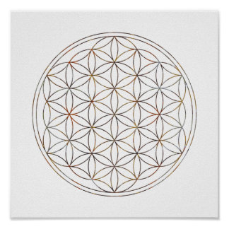 Heilige Geometrie-Blume des Lebens (V-Elemente) Poster
