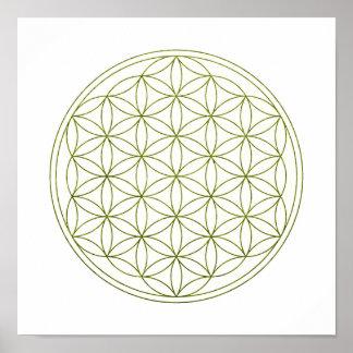 Heilige Geometrie-Blume des Lebens (V-Sprössling) Poster