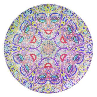 """Heilige Geometrie """"kann Platte bis März einmachen"""" Melaminteller"""