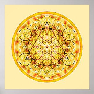 Heilige Geometrie-Mandala 2 Plakatdruck