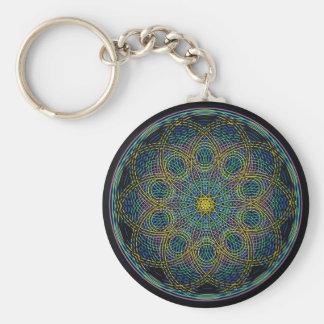 Heilige Geometrie-Mandala: Aufrichtigkeit - Hand g Standard Runder Schlüsselanhänger