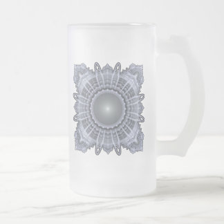 Heilige Geometrie Mattglas Bierglas