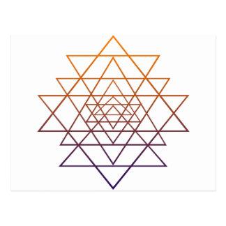 Heilige Geometrie Postkarte