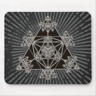 Heilige Geometrie: Schwarze Dreiecke: Mousepad
