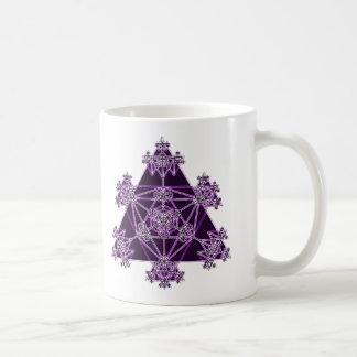 Heilige Geometrie: Violette Dreiecke: Kaffeetasse