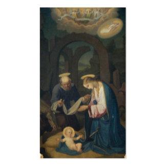 Heilige Karten (Schrift):  Geburt von Christus Visitenkarten