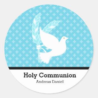 Heilige Kommunion Runder Aufkleber