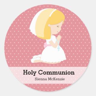 Heilige Kommunions-Mädchen * wählen Sie Ihre Runder Sticker