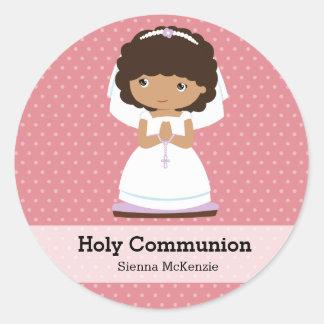 Heilige Kommunions-Mädchen * wählen Sie Ihre Runder Aufkleber