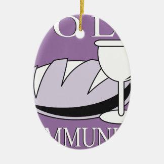 Heilige Kommunions-Sakrament Keramik Ornament