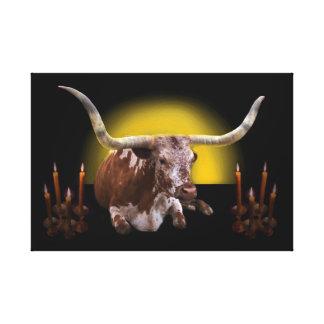 Heilige Kuh 3: Sein königliches Strahlen Leinwanddruck