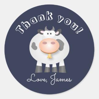 Heilige Kuh danken Ihnen für kommendes Runder Aufkleber