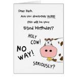 Heilige Kuh! Dieses ist Ihr Geburtstag Karten