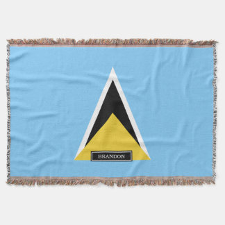 Heilige Lucia-Flagge Decke