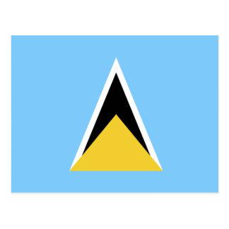 Heilige Lucia-Flagge Postkarte