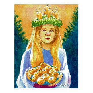 Heilige Lucia-Kerzen-Kranz Postkarte